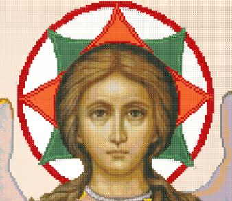 Схема вышивки одновременно и бисером и крестиком