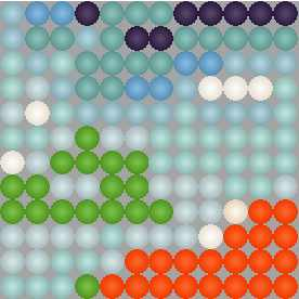 Схема вышивки бисером на ткани без символов