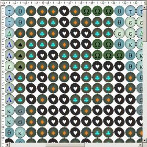Схема вышивки бисером на ткани с однотонным цветом в зазорах между бусинами