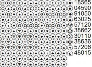 Черно-белый вариант схемы вышивки бисером на ткани