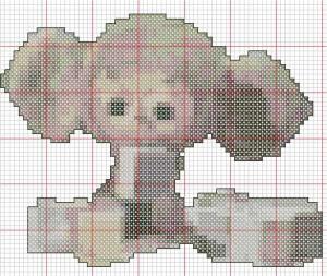 Вертикальные и горизонтальные линии схемы вышивки крестом