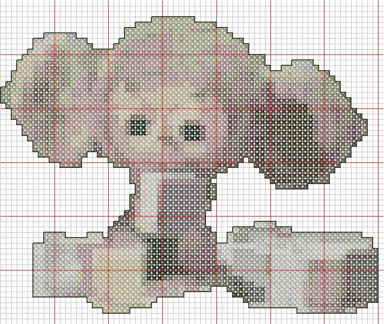 Горизонтальные схемы вышивки