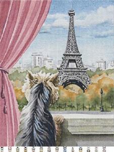 Схема вышивки бисером 'Париж', созданная в программе 'Бисер и мулине с MyJane'