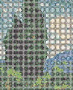 создание ажурной схемы плетения бисером