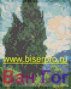 Вставка водяных знаков на изображения схем вышивки бисером или крестиком