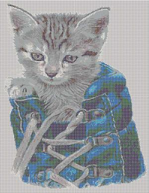 Котенок - схема вышивки бисером Татьяны Смирновой для бесплатного скачивания