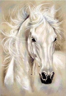 Конь схема вышивки бисером Татьяны Смирновой для бесплатного скачивания