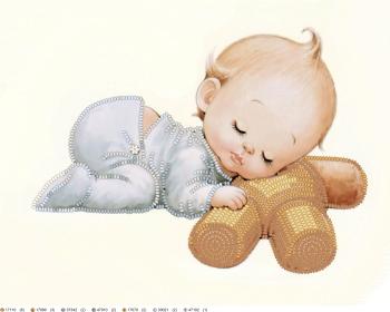 Схема 'Малыш' в технике вышивки бисерной гладью, созданная в программе 'Бисерная гладь с MyJane'