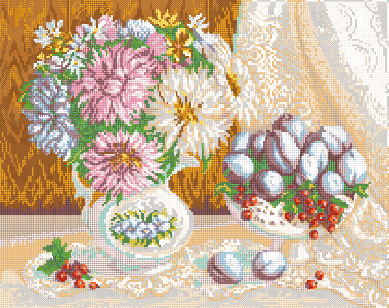 Дары осени - схема вышивки бисером Елены Ивановой для бесплатного скачивания