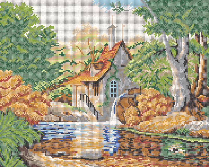 У озера - схема плетения бисером для бесплатного скачивания