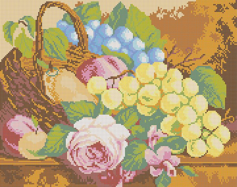 Фруктовый рай - схема вышивки бисером Елены Ивановой для бесплатного скачивания