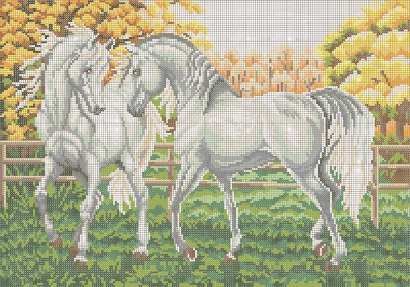Осеннее утро - схема плетения бисером для бесплатного скачивания