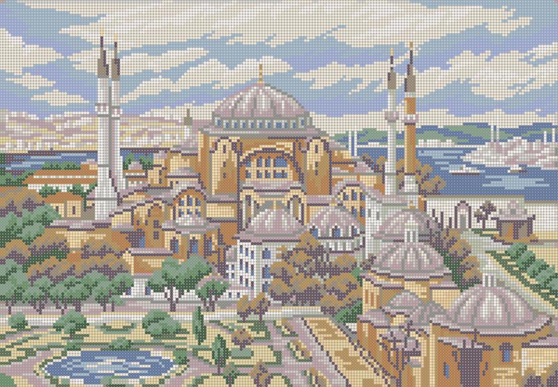 Стамбул - схема вышивки бисером Елены Ивановой для бесплатного скачивания