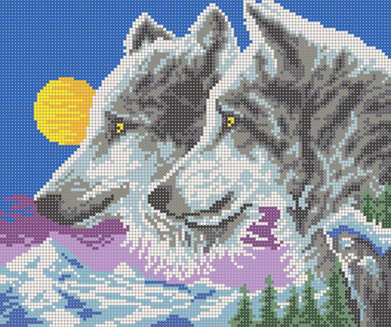 Волки вышивки бисером 46