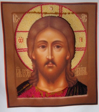 Finished icon of the Savior, created in the program BeadCreatorArt